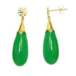 Jades of Aloha  - Gold Jade Earrings