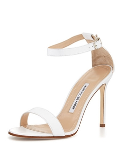 Manolo Blahnik - Chaos Leather Ankle-Strap Sandals