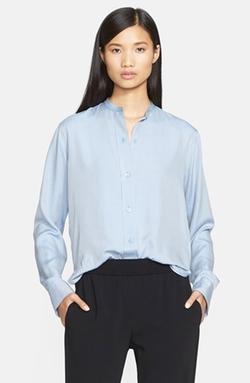 Helmut Lang - Matte Silk Twill Shrunken Shirt