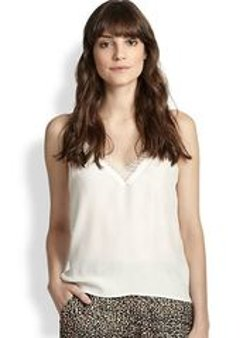 The Kooples - Lace-Trimmed Silk Camisole