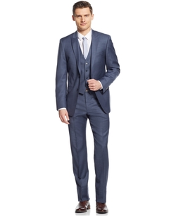 Calvin Klein - Sharkskin Vested Suit