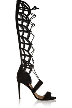 Paul Andrew  - Madison Lace Up Suede Sandals