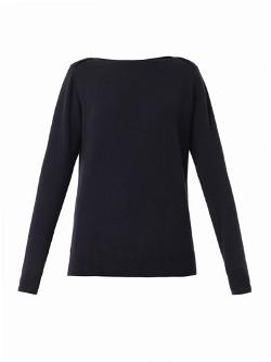 Freda  - Boat-neck Cashmere-knit Sweater