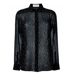 Saint Laurent - Sheer Polka Dot Blouse