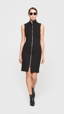L'Agence - Sleeveless Zip Front Dress