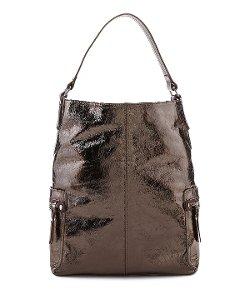 Tano  - Metallic Hobo Bucket Bag
