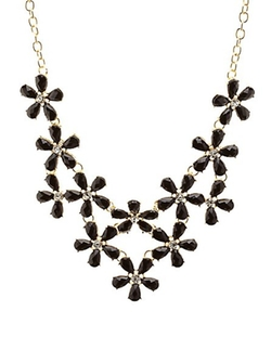 Charlotte Russe - Jeweled Daisy Bib Necklace