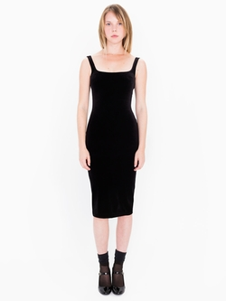 American Apparel - Velvet Tank Dress