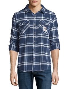 Superdry  - Plaid Flannel Button-Front Shirt
