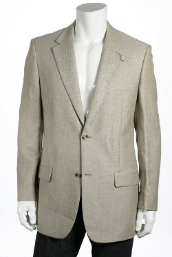 Club Room - Khaki Herringbone Linen Sport Coat