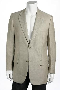 Club Room - Khaki Herringbone Linen Sport Coat
