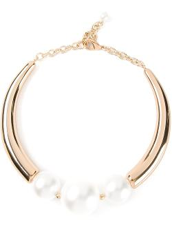 MARINA FOSSATI - oversized pearl detail choker necklace