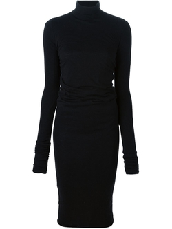 Rick Owens Lilies  - Turtle Neck Fitted Dress