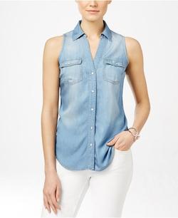 INC International Concepts - Denim Sleeveless Shirt