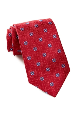 Ike Behar  - Medallion Two Silk Tie