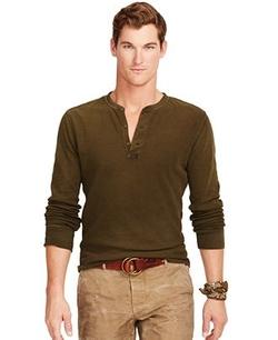 Polo Ralph Lauren - Textured Cotton Henley Shirt