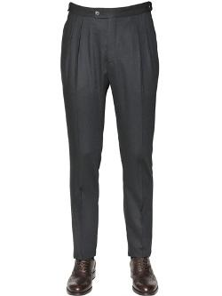 Tombolini  - 18.5cm Wool Flannel Trousers