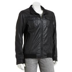 Marc Anthony  - Slim-Fit Faux-Leather Moto Jacket