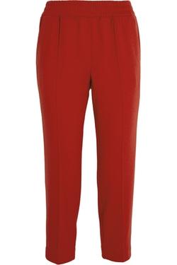J.Crew  - Cropped Flannel Straight-Leg Pants