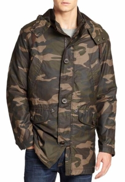 Cole Haan  - Washed Camo Military Parka Jacket