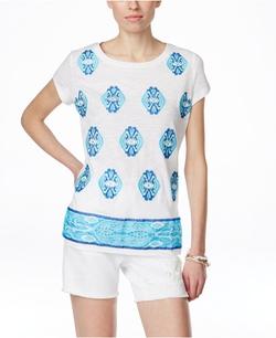INC International Concepts - Embellished T-Shirt