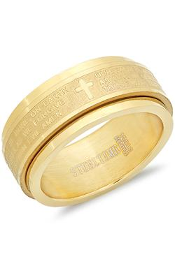 Steel Superlative Jewelry  - The Lords Prayer Ring