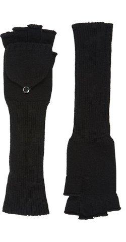 Barneys New York - Fingerless Convertible Mitten Gloves