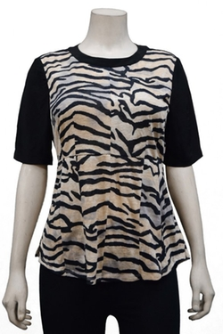 Rebecca Taylor - Jersey Combo Top