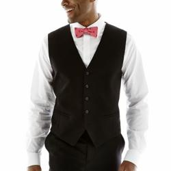 Claiborne - Textured Slim-Fit Wool Vest