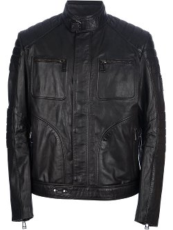 Belstaff  - Ribbed Leather Jacket