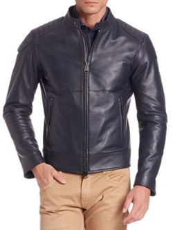 Pal Zileri - Long Sleeve Leather Jacket