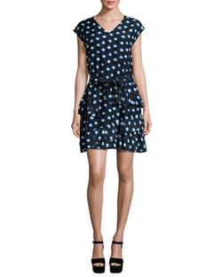 Boutique Moschino - Ruffled Polka-Dot Shirtdress