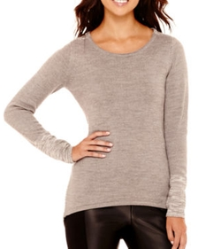 Nicole by Nicole Miller - Long-Sleeve Stitch-Detail Sweater