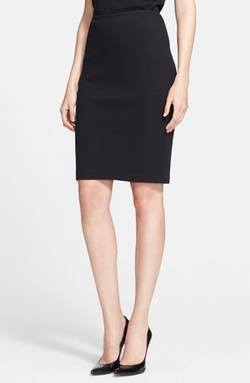 St. John Collection - Milano Piqué Knit Pencil Skirt