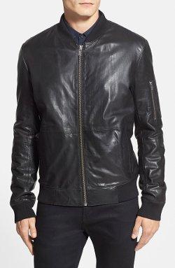 Hugo  - Leather Bomber Jacket