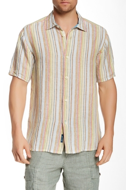 Tommy Bahama  - Seaworthy Breezer Short Sleeve Linen Shirt