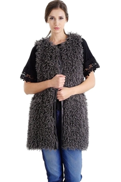 Melody - Shaggy Faux Fur Vest