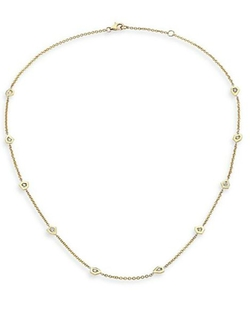 Ron Hami  - Rain Diamond & Yellow Gold Organic Station Necklace