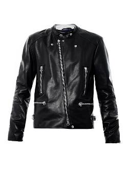 Lanvin - Leather multi-zip jacket