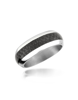 Zoppini - Carbon Fiber & Stainless Steel Band Ring