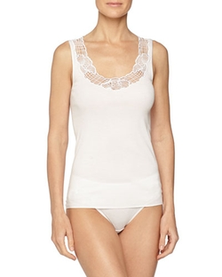 Hanro - Savona Lace-Trimmed Tank Top