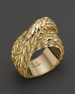 John Hardy - Classic Chain 18K Yellow Gold Wrap Ring
