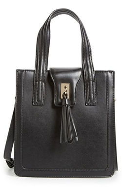 Sole Society - Structured Faux Leather Tote Bag