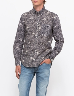 Gitman Brothers - Eagle Print Shirt