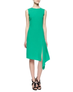 Oscar De La Renta - Asymmetrical Scarf-Hem Dress