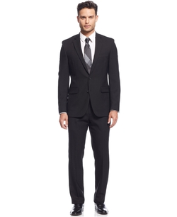 Kenneth Cole New York - Extreme Black Solid Slim-Fit Suit