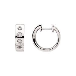 Katarina - White Gold Diamond Huggie Earrings