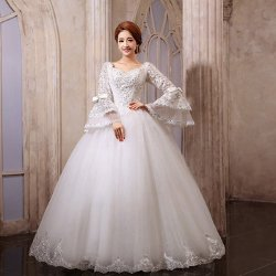 I DO - Wedding Creation - Long-Sleeve Bag Wedding Dress