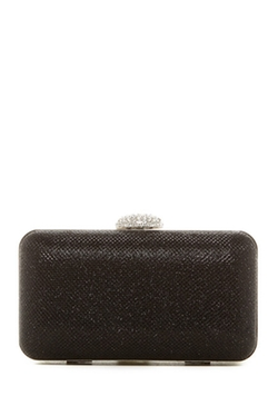 Natasha Accessories - Crystal Clasp Box Clutch Bag