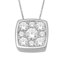 Aone Jewelry  - White Gold Diamond Necklace